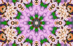 Beau fond abstrait avec des fractales sous forme de fleur photo libre de droits