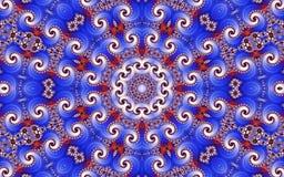 Beau fond abstrait avec un modèle circulaire des fractales images stock