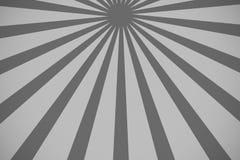 Beau fond abstrait de starburst, noir et blanc Photographie stock libre de droits
