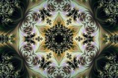 Beau fond abstrait des fractales avec un ornement circulaire illustration stock