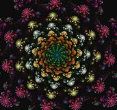 Beau fond abstrait des fractales sous forme de fleurs photo stock