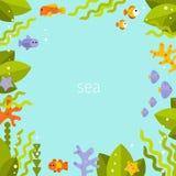 Beau fond avec des poissons Image libre de droits