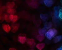 Beau fond avec le coeur coloré différent, CCB abstrait Photographie stock libre de droits