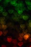 Beau fond avec le coeur coloré différent, CCB abstrait Image stock