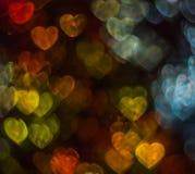 Beau fond avec le coeur coloré différent, CCB abstrait Photos libres de droits