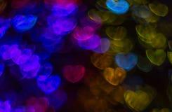 Beau fond avec le coeur coloré différent, CCB abstrait Photos stock