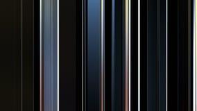 Beau fond avec les lignes changeantes et les réflexions multicolores, 3d animation faite une boucle sans couture, 4K banque de vidéos