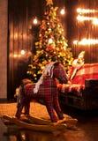 Beau fond avec un arbre de Noël Image libre de droits