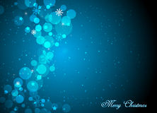 Beau fond bleu de Noël Images libres de droits