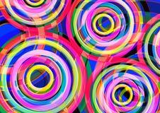 Beau fond coloré Conception ronde de forme circulaire Photos libres de droits