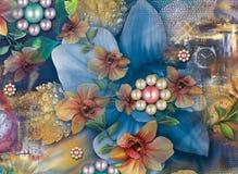 Beau fond coloré et conception florale photographie stock