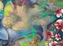 Beau fond coloré et conception florale photos stock