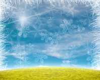 Beau fond d'éclaille de neige Image libre de droits