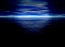 Beau fond d'horizon éloigné bleu lumineux illustration de vecteur