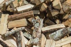 Beau fond de bois de chauffage Image stock