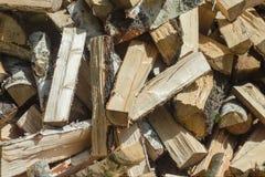 Beau fond de bois de chauffage Photos stock