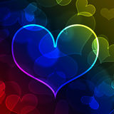 Beau fond de forme de coeur Images libres de droits