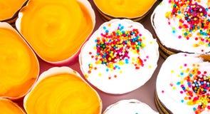 Beau fond de gâteau de tasse Images stock