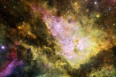 Beau fond de galaxie avec la nébuleuse, les chimères et les étoiles lumineuses image stock