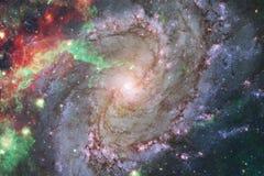 Beau fond de galaxie avec la n?buleuse, les chim?res et les ?toiles lumineuses image libre de droits