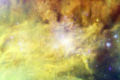 Beau fond de galaxie avec la n?buleuse, les chim?res et les ?toiles lumineuses image stock