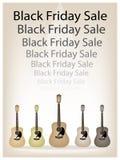 Beau fond de guitares de en vente de Black Friday Photos stock