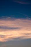 Beau fond de nature Coucher du soleil coloré Ciel excessif Image stock