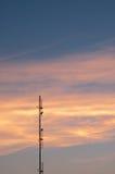 Beau fond de nature Coucher du soleil coloré Ciel excessif Images stock