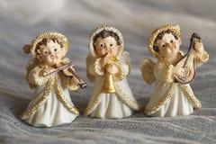 Beau fond de Noël avec des anges photo stock