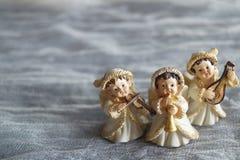 Beau fond de Noël avec des anges images stock