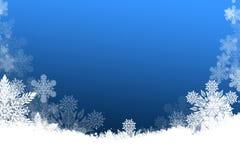 Beau fond de Noël avec des flocons de neige