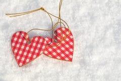 Beau fond de vacances de valentine avec l'habit bariolé deux à carreaux Photographie stock