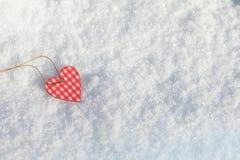 Beau fond de vacances de valentine avec le hea bariolé à carreaux Photographie stock libre de droits