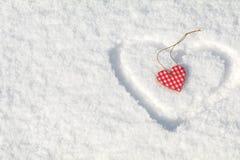 Beau fond de vacances de valentine avec le hea bariolé à carreaux Image libre de droits