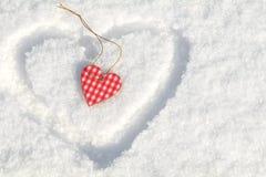 Beau fond de vacances de valentine avec le hea bariolé à carreaux Images libres de droits