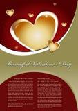 Beau fond de vecteur de jour de Valentines Photo libre de droits