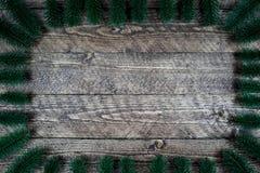 Beau fond en bois avec des branches d'arbre et une belle vignette Images stock