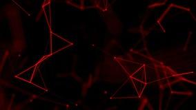 Beau fond géométrique abstrait avec les lignes, les points et les triangles mobiles illustration de vecteur