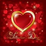 Beau fond le jour de Valentine Images libres de droits