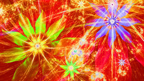 Beau fond moderne vif lumineux de fleur dans des couleurs rouges, jaunes, pourpres, vertes Images libres de droits