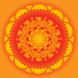 Beau fond orange avec des étoiles Photos stock