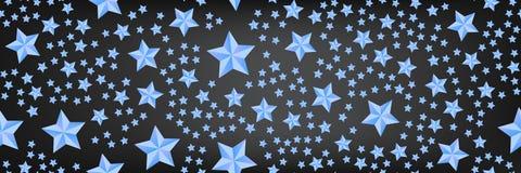 Beau fond panoramique avec les étoiles bleues illustration libre de droits