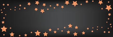 Beau fond panoramique avec les étoiles d'or, le copie-espace pour le texte illustration libre de droits