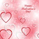Beau fond pour la Saint-Valentin avec des coeurs Photographie stock