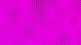 Beau fond pourpre de hexagrid avec le mouvement de vagues lent boucle banque de vidéos