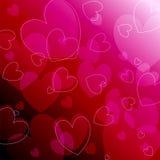 Beau fond romantique rougeoyant Photos libres de droits