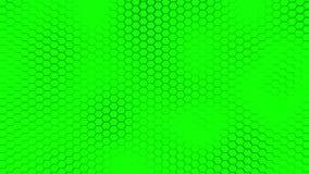 Beau fond vert de hexagrid avec le mouvement de vagues lent boucle clips vidéos