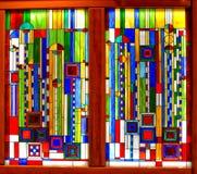 Beau Frank Lloyd Wright Stained Glass à l'hôtel de Broadmoor Photos stock
