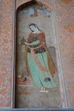 Beau fresque chez Ali Qapu Palace à Isphahan, Iran Photographie stock
