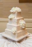 Beau gâteau de mariage Photographie stock